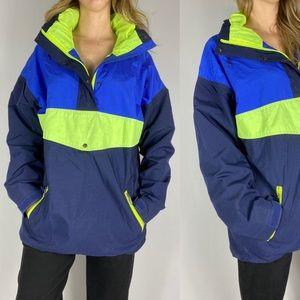 Vintage neon Far West winter jacket windbreaker.